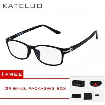 KATELUO TUNGSTEN Computer Goggles Anti Fatigue Radiation-resistant Glasses Eyeglasses Frame Eyewear Spectacle Oculos 13028(black) [ free gift ]
