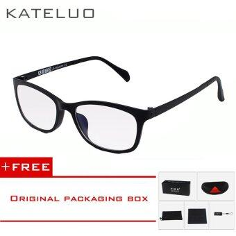 KATELUO TUNGSTEN Computer Goggles Anti Laser Fatigue Radiation-resistant Glasses Eyeglasses Frame Eyewear Spectacle Oculos 13031(black) [ free gift ]