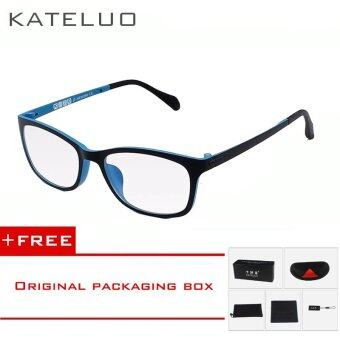 KATELUO TUNGSTEN Computer Goggles Anti Laser Fatigue Radiation-resistant Glasses Eyeglasses Frame Eyewear Spectacle Oculos 13031(blue) [ free gift ]