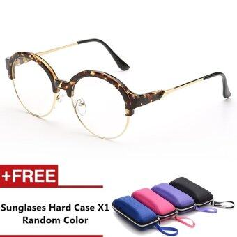 Lecco Brand Unisex Retro Aluminu Glasses Polarized Lens VintageEyewear Accessories Glasses For Men/Women (Leopard)