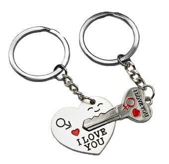 Leegoal Key to My Heart Cute Couple Keychain Love Keychain Key Ring