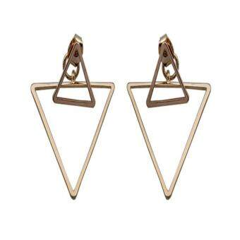 [Little B House] Golden Triangle Exaggerated Earrings - ER81