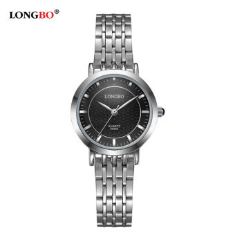 LONGBO Fashion Women Silver Glamour Steel Elegant Waterproof Quartz Wrist Watch 80095
