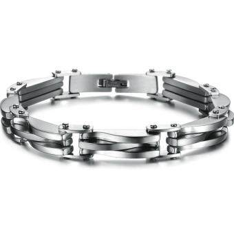 Men's Titanium Steel Golden Charm Bracelet Bangle