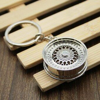 Moonar Creative BBS Wheel Rim Design Keychain Fashion Modified CarWheel Key Chain Ring