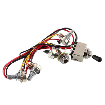 OEM Wiring Harness 2V/2T 3 Way Toggle Switch Pots Guitar Humbucker ...