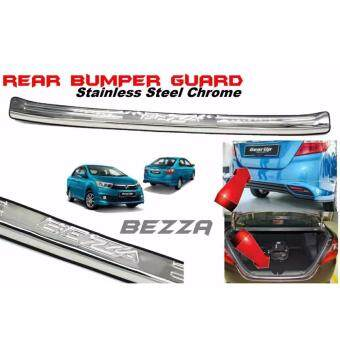 Perodua Bezza Chrome ABS Rear Bumper Guards Guard Protector