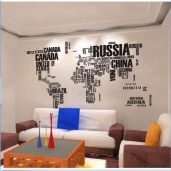 Quote Letter World Map Home Decor Removable Vinyl Decal Art MuralWall Stickers