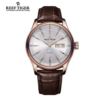 Reef Tiger rga8232 fully automatic double waterproof watch men's watch