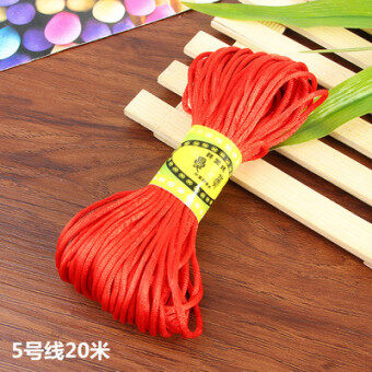Special DIY accessories handmade braided rope material five color Chinese knot 5 No. Line 6 NO. Line 7 No. Line