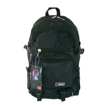 SPORT Outdoor Backpack for Hiking and Camping (Black)