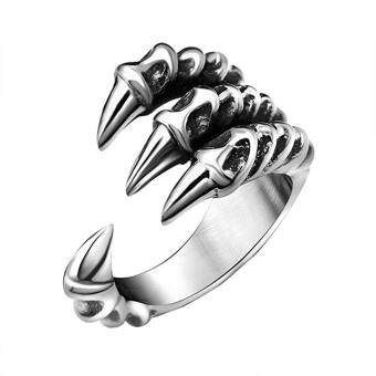 Stainless Steel Dragon Claw Rings for Men and Women