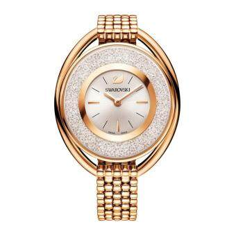Swarovski Crystaline Oval Rose Gold Tone Watch