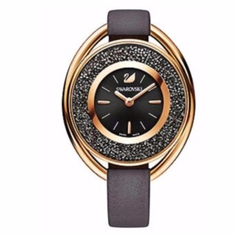 SWAROVSKI Crystalline Oval Black/Gray Tone Watch