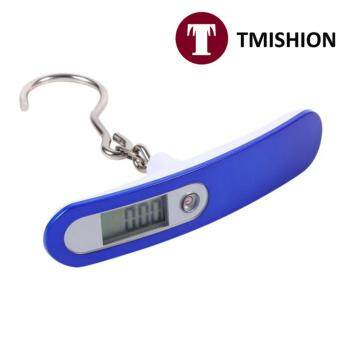 TMISHION 50KG/ 10G Travel Hanging Weight High Precision DigitalLuggage Scale LCD Display (Blue) +Hook