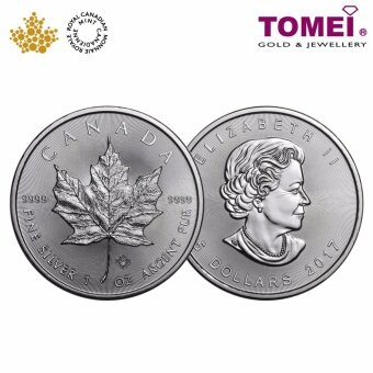 TOMEI 2017 Royal Canadian Mint Pure Silver Maple Leaf Coin 1 oz.