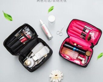 Travel finishing portable-makeup brush cosmetic bag