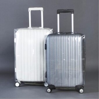Travel Luggage Suitcase Protective Cover Anti Dust WaterproofTransparent PVC Luggage Cover (20 Inch)