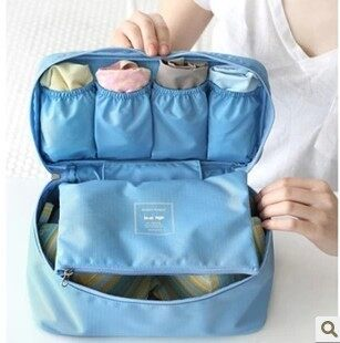Travel multi-function travel portable underwear storage box wash cosmetic bag female bra socks finishing bag storage bag
