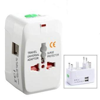 Universal Travel Adapter Traveling Adaptor with 2 USB