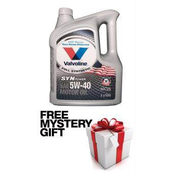Valvoline Engine Oil Fully Synthetic 5W-40 API SN 4 Liters FREE MYSTERY GIFT
