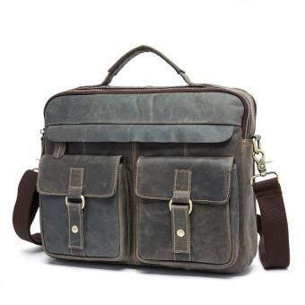 Vintage Genuine Leather Laptop Briefcase messenger satchel bag ...