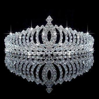 Wedding Bridal Princess Austrian Crystal Hair Accessory Tiara Crown Veil Silver
