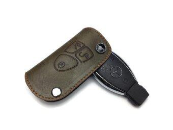 Amg mercedes benz premium genuine leather key fob holder for Mercedes benz key holder