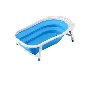 baby foldable bath tub blue lazada malaysia. Black Bedroom Furniture Sets. Home Design Ideas