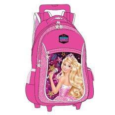 """Barbie Rock'n Royals School Trolley Bag 16"""" - Pink Colour"""