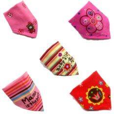 Cotton Velcro Bandage Baby Bib for Baby Girls