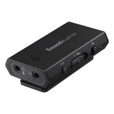 Creative Sound Blaster E1 Portable Headphone Amplifier with Integrated Mic and Dual Headphone Jacks for PC and Smartphones