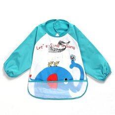 Elephant Icon Baby Waterproof Anti-Dressed Bib