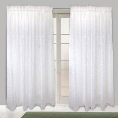 Essina French Pleated Curtain Sheer 1 Layer Saffron White - Sliding Door