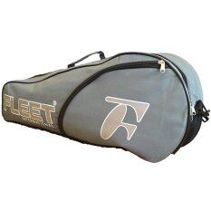 Fleet 1 Zips+ 1 Side Compartment Bag + Sling Strap FT011 Grey