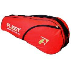 Fleet 1 Zips+ 1 Side Compartment Bag + Sling Strap FT011 Red