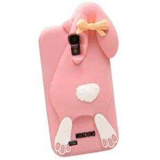 ilife Creative Design 3D Cartoon Bunny Back Cover Case For Samsung S4 Rabbit Silicon Gel Phone case For Galaxy S4 9500