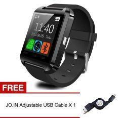 Jo.In U8 Bluetooth Wrist Smart Watch (Black) + FREE USB Cable