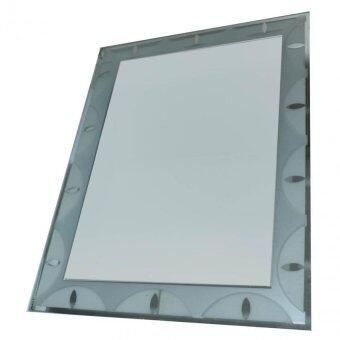 Mirror rectangular white border 60cm x 45cm lazada for Mirror 45 x 60