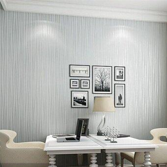 Modern fashion non woven wallpaper 3d striped wallpapers for 3d wallpaper for living room malaysia