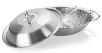 original profi collection wok 30cm with metal lid for. Black Bedroom Furniture Sets. Home Design Ideas