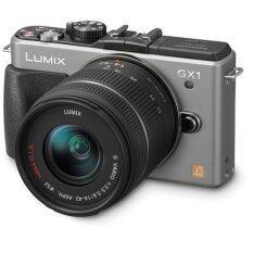 Panasonic Lumix DMC-GX1W Mirrorless with 14-42mm + 14mm Lens (Silver) + 8GB