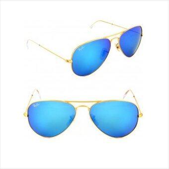 Aviator Sunglasses Gold Frame Crystal Blue Lens : Ray-Ban Aviator Luxottica RB3026 Gold Frame Crystal Blue ...