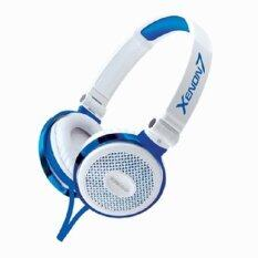 SonicGear Xenon 7 Stereo Headset (White/Chrome Blue)