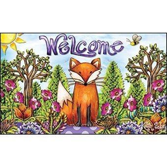 Toland Home Garden 18 By 30 Welcome Fox Indoor Outdoor Mat