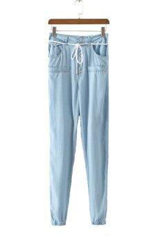 Denim trouser pants plus size