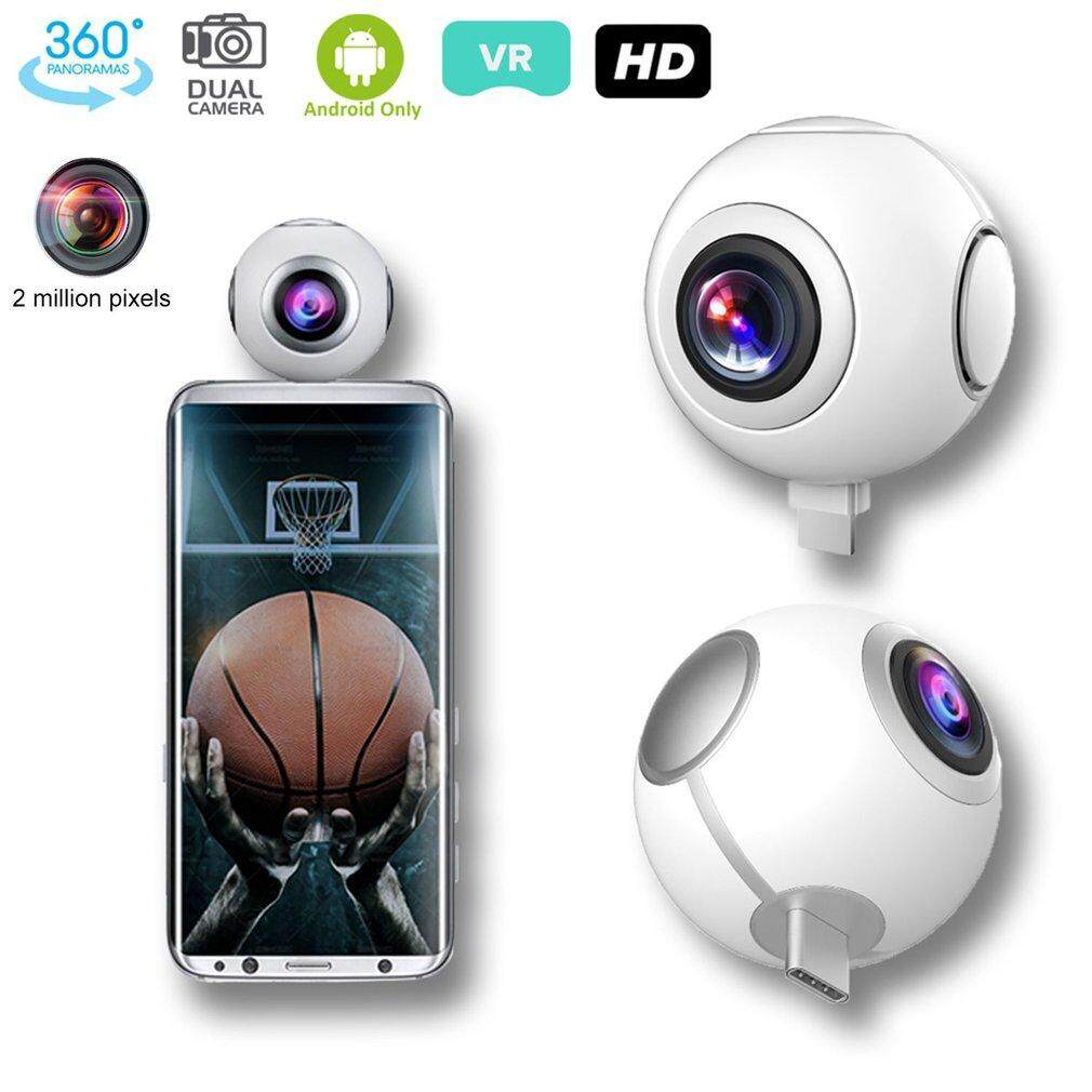 Gearray T-750 720 Panoramic Camera HD Mini Dual Wide Lens Video Camera for Android – intl