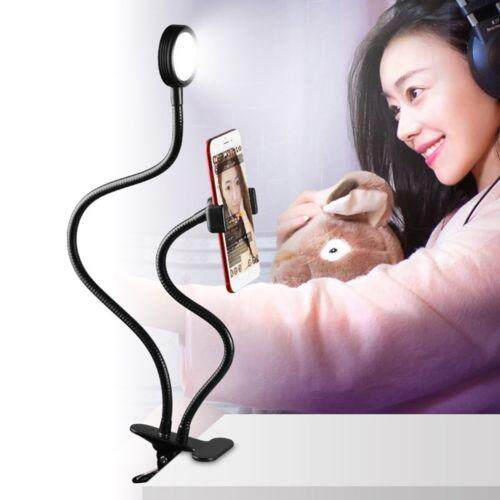 ZKYT Tech Phone Camera Flash Light. Selfie Ring Light with Cell Phone Holder Stand for