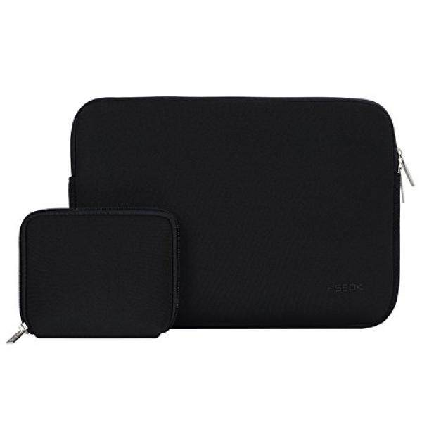 HSEOK 13-13.3 Inch Laptop Sleeve Case, Water-resistant Sleeve with Case for MacBook Air/Pro Retina Late 2012-2016, Black – intl