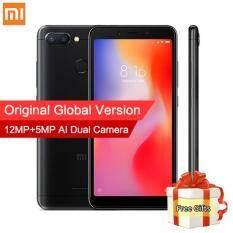 Global Xiaomi Redmi 6 3GB 32GB / 4GB 64GB Mobile Phone MTK Helio P22 Octa Core 5.45″ 18:9 Full Screen 12MP+5MP Dual Camera